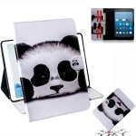 Panda Pattern Horizontal Flip Leather Case for Amazon Kindle Fire HD 8 2015/2016/2017/2018, with Holder & Card Slot & Wallet