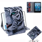 Tiger Pattern Horizontal Flip Leather Case for Amazon Kindle Fire HD 8 2015/2016/2017/2018, with Holder & Card Slot & Wallet
