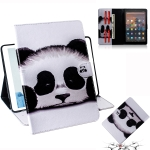 Panda Pattern Horizontal Flip Leather Case for Amazon Kindle Fire HD 10 2015/2017, with Holder & Card Slot & Wallet