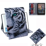 Tiger Pattern Horizontal Flip Leather Case for Amazon Kindle Fire HD 10 2015/2017, with Holder & Card Slot & Wallet