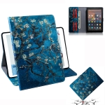 Apricot Blossom Pattern Horizontal Flip Leather Case for Amazon Kindle Fire HD 10 2015/2017, with Holder & Card Slot & Wallet