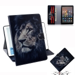 Lion Pattern Horizontal Flip Leather Case for Amazon Kindle Fire HD 10 2015/2017, with Holder & Card Slot & Wallet