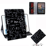 Formula Pattern Horizontal Flip Leather Case for Amazon Kindle Fire HD 10 2015/2017, with Holder & Card Slot & Wallet