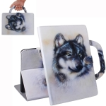 Wolf Pattern Horizontal Flip Leather Case for Huawei MediaPad T5, with Holder & Card Slot & Wallet