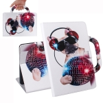 Dog Pattern Horizontal Flip Leather Case for Huawei MediaPad T5, with Holder & Card Slot & Wallet