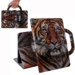 Tiger Pattern Horizontal Flip Leather Case for Huawei MediaPad T5, with Holder & Card Slot & Wallet