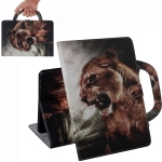 Lion Pattern Horizontal Flip Leather Case for Huawei MediaPad T5, with Holder & Card Slot & Wallet