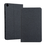 Universal Voltage Craft Cloth TPU Protective Case for Huawei Honor Tab 5 8 inch / Mediapad M5 Lite 8 inch, with Holder(Black)