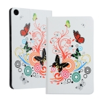 Butterfly Pattern Universal Spring Texture TPU Protective Case for for Huawei Honor Tab 5 8 inch / Mediapad M5 Lite 8 inch, with Holder