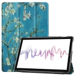 Cowhide Texture Apricot Pattern Colored Drawing Horizontal Flip Leather Case for Huawei Mediapad M6 10.8, with Holder