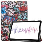 Cowhide Texture Graffiti Pattern Colored Drawing Horizontal Flip Leather Case for Huawei Mediapad M6 10.8, with Holder
