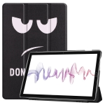 Cowhide Texture Big Eyes Pattern Colored Drawing Horizontal Flip Leather Case for Huawei Mediapad M6 10.8, with Holder