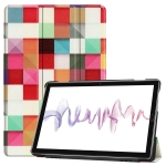 Cowhide Texture Magic Cube Pattern Colored Drawing Horizontal Flip Leather Case for Huawei Mediapad M6 10.8, with Holder