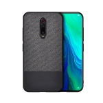 Shockproof Splicing PU + Cloth Protective Case for Xiaomi Redmi K20 Pro(Black)