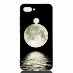 Moon Painted Pattern Soft TPU Case for Xiaomi Mi 8 Lite