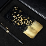 Gold Butterfly Painted Pattern Soft TPU Case for Xiaomi Mi 9