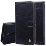 Business Style Oil Wax Texture Horizontal Flip Leather Case for Xiaomi Redmi K20 / K20 Pro, with Holder & Card Slots & Wallet (Black)