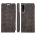 Retro Simple Ultra-thin Magnetic Horizontal Flip Leather Case for Xiaomi Mi 9, with Holder & Card Slots & Lanyard (Black)