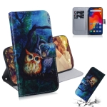 Oil Painting Owl Pattern Coloured Drawing Horizontal Flip Leather Case for Xiaomi Redmi Note 6 / Redmi Note 6 Pro, with Holder & Card Slots & Wallet