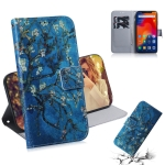 Apricot Flower Pattern Coloured Drawing Horizontal Flip Leather Case for Xiaomi Redmi Note 6 / Redmi Note 6 Pro, with Holder & Card Slots & Wallet