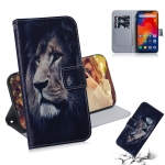 Lion Pattern Coloured Drawing Horizontal Flip Leather Case for Xiaomi Redmi Note 6 / Redmi Note 6 Pro, with Holder & Card Slots & Wallet
