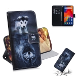 Wolf and Dog Pattern Coloured Drawing Horizontal Flip Leather Case for Xiaomi Redmi Note 6 / Redmi Note 6 Pro, with Holder & Card Slots & Wallet