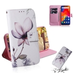 Magnolia Flower Pattern Coloured Drawing Horizontal Flip Leather Case for Xiaomi Redmi Note 6 / Redmi Note 6 Pro, with Holder & Card Slots & Wallet