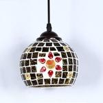 Vintage Glass pendant Lamp Decoration Lamp Resident lamp wall lamp For Restaurant Bar Cafe Loft Bedroom (Black)
