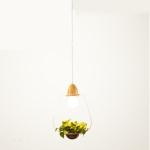 Wrought Iron Plant Flower Decoration Glass pendant Lamp Ceiling Lamp Droplight for Restaurant Pub Cafe House Garden (White)