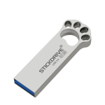 STICKDRIVE 64GB USB 3.0 Creative Cat Paw Metal U Disk (Silver Grey)