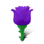 MicroDrive 4GB USB 2.0 Creative Rose U Disk (Purple)