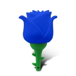 MicroDrive 128GB USB 2.0 Creative Rose U Disk (Blue)