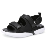 Casual Simple Two-wear Non-slip Wear Resistant Women Sandals (Color:Black Size:35)