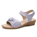 Casual Simple Non-slip Wear-resistant Bowknot Women Sandals (Color:Purple Size:39)