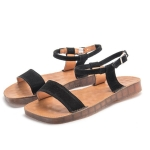 Outdoor Casual Simple Non-slip Wear Resistant Women Sandals (Color:Black Size:39)