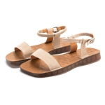 Outdoor Casual Simple Non-slip Wear Resistant Women Sandals (Color:Apricot Size:38)