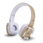 Moloke T6 Wireless Bluetooth Headset Stereo Sound Earphones, Support TF Card & Handfree Function (Gold)
