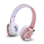 Moloke T6 Wireless Bluetooth Headset Stereo Sound Earphones, Support TF Card & Handfree Function (Rose Gold)