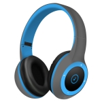 Moloke T8 Foldable Wireless Bluetooth Headset Stereo Sound Earphones, Support TF Card & Handfree Function (Blue)