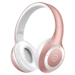 Moloke T8 Foldable Wireless Bluetooth Headset Stereo Sound Earphones, Support TF Card & Handfree Function (Rose Gold)