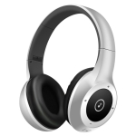 Moloke T8 Foldable Wireless Bluetooth Headset Stereo Sound Earphones, Support TF Card & Handfree Function (Silver)