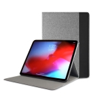 Mutural British Series Color Matching TPU + Canvas PU Leather Case for iPad Pro 9.7 inch & iPad 9.7 (2018) & iPad Air & Air 2 , With Folding Holder (Black)