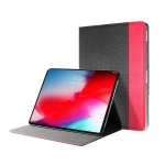 Mutural British Series Color Matching TPU + Canvas PU Leather Case for iPad Pro 9.7 inch & iPad 9.7 (2018) & iPad Air & Air 2 , With Folding Holder (Red)