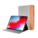 Mutural British Series Color Matching TPU + Canvas PU Leather Case for iPad Pro 10.5 inch, With Holder & Pen Slot (Brown)