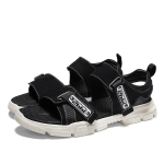 Non-slip and Wearable Casual Fashion Wild Beach Sandals for Men (Color:Black Size:40)