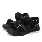 Casual Breathable Wild Beach Sandals for Men (Color:Black Size:42)