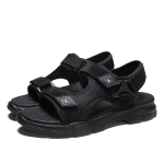 Casual Trend Soft Bottom Beach Sandals for Men (Color:Black Size:43)