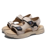 Casual Trend Soft Bottom Beach Sandals for Men (Color:Apricot Size:42)