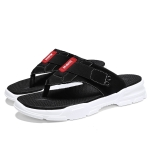 Casual Non-slip Wearable Open Toe Fashion Beach Shoes for Men (Color:Black Size:39)