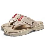 Casual Non-slip Wearable Open Toe Fashion Beach Shoes for Men (Color:Apricot Size:39)